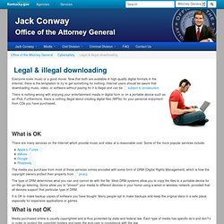 Office of the Attorney General : Legal & illegal downloading