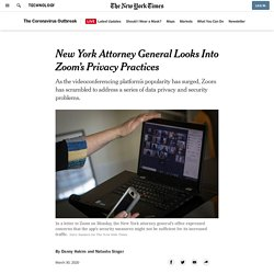 New York Attorney General Looks Into Zoom's Privacy Practices