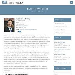 Attorney Matthew Fried