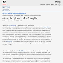 Attorney Randy Risner Is a True Francophile