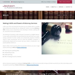 Wills and Powers of Attorney Services