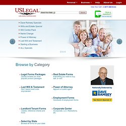 U.S. Legal Forms - 36,000 Legal Documents, Forms, Real Estate, Landlord Tenant, Name Change and more.