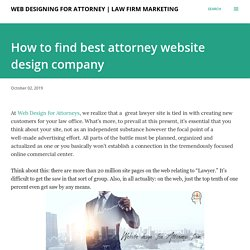 How to find best attorney website design company