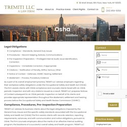 Osha Attorney for Business in Wall Street, NY