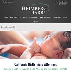 Birth Injury Attorneys Los Angeles, California
