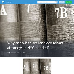 Why and when are landlord tenant attorneys in NYC needed? (with image) · wsdanklawfirm