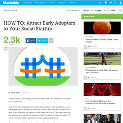 HOW TO: Attract Early Adopters to Your Social Startup