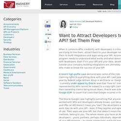 Want to Attract Developers to your API? Set Them Free