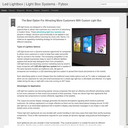 Light Box Systems - Fybox: The Best Option For Attracting More Customers With Custom Light Box