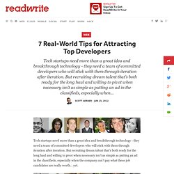 7 Real-World Tips for Attracting Top Developers