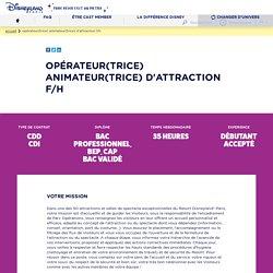 Opérateur(trice) Animateur(trice) d'attraction F/H
