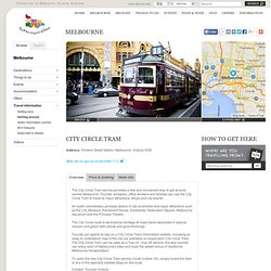 City Circle Tram, Attraction, Melbourne, Victoria, Australia