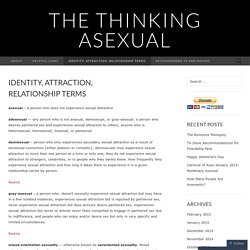 Identity, Attraction, Relationship Terms