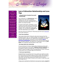 Law of Attraction Relationship Tips - The Secret to Love Relationship Success - StumbleUpon