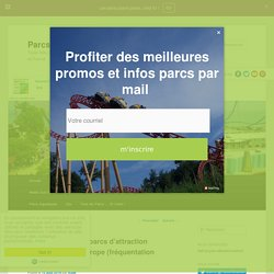 Top des parcs d'attraction les plus visités en France et en Europe - Parcs d'attraction et de loisirs