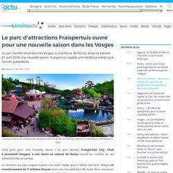 Le parc d'attractions Fraispertuis ouvre pour une nouvelle saison dans les Vosges