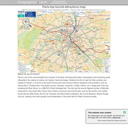 Paris maps - Top tourist attractions - Free, printable - Mapaplan.com