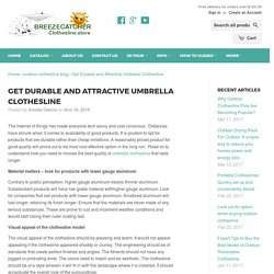 Get Durable and Attractive Umbrella Clothesline