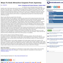 Ways To Grab Attractive Coupons From Jcpenney