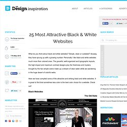 25 Most Attractive Black & White Websites