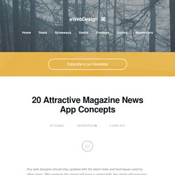 20 Attractive Magazine News App Concepts