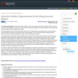 Attractive Market Opportunities in the String Inverter Market
