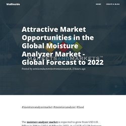 Attractive Market Opportunities in the Global Moisture Analyzer Market - Global Forecast to 2022