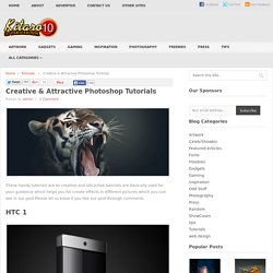 Creative & Attractive Photoshop Tutorials