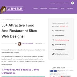 30+ Attractive Food And Restaurant Sites Web Designs