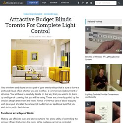 Attractive Budget Blinds Toronto For Complete Light Control