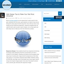 Web Design Tips to Make Your Site More Attractive