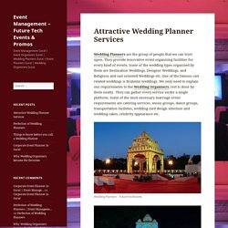 Attractive Wedding Planner Services