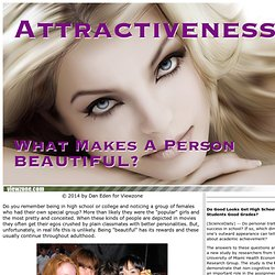 What makes us attractive? What is beauty?: Viewzone