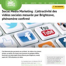 Social Media Marketing : L'attractivité des vidéos sociales mesurée par Brightcove, phénomène confirmé
