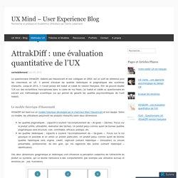 AttrakDiff : une évaluation quantitative de l'UX