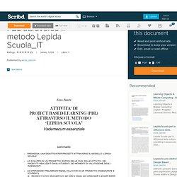 PBL attraverso il metodo Lepida Scuola_IT