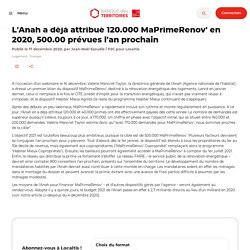 L'Anah a déjà attribué 120.000 MaPrimeRenov' en 2020, 500.00 prévues l'an prochain