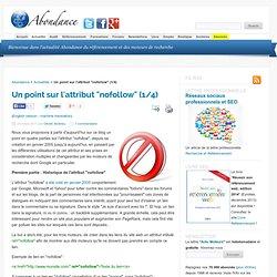 """Un point sur l'attribut """"nofollow"""" (1/4) - Le blog Abondance : Référencement et moteurs de recherche"""
