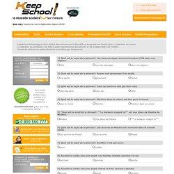 Sujet et attribut du sujet : Quiz d'évaluation KeepSchool