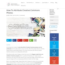 How To Attribute Creative Commons Photos