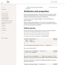 Attributes and properties