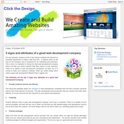 Click the Design: 5 signs and attributes of a good web development company