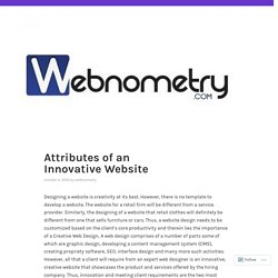 Attributes of an Innovative Website – webnometry