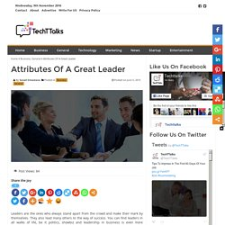 Attributes Of A Great Leader