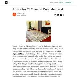 Attributes Of Oriental Rugs Montreal - jack tin - Medium