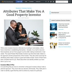 Attributes That Make You A Good Property Investor