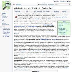 DE:Germany roads tagging – OpenStreetMap Wiki