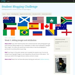 Blogging - Adding images and attribution : Challenge Yourself to Blog