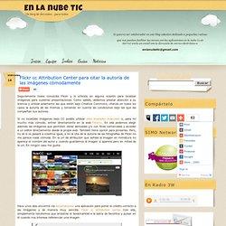 Flickr cc Attribution Center para citar la autoría de las imágenes cómodamente