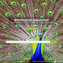 Attribution Generator